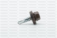 Katusekruvi SD 3 puurots 4.8x19 RR31/RAL8025 Ruspert