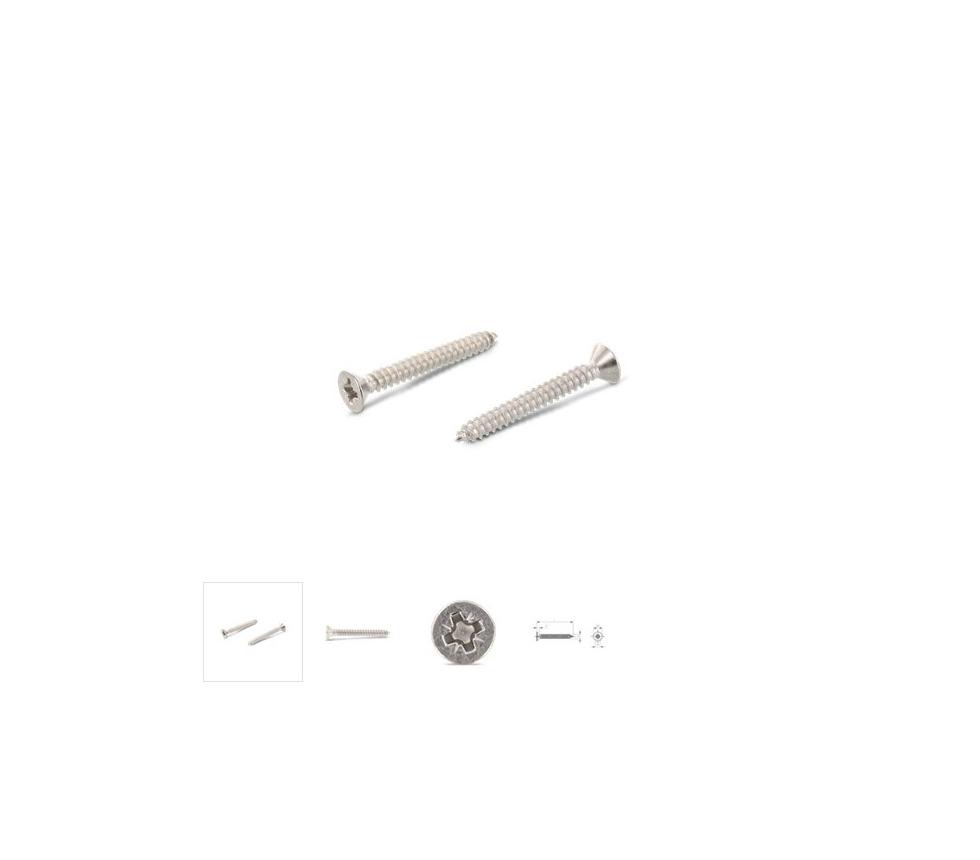 Plekikruvi peitpea DIN 7982 6.3x100 A2 PZ
