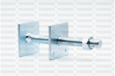 Reguleeritav jalg M 16x150/60x60x5.0 Zn