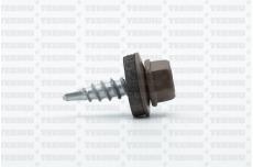 Katusekruvi puurots ülekatte 1.5mm 4.8x20 RR31/RAL8025 Ruspert