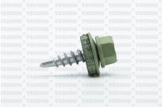 Katusekruvi puurots ülekatte 1.5mm 4.8x20 RR36/RAL6021 Ruspert