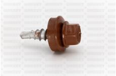 Katusekruvi puurots ülekatte 1.5mm 4.8x20 RR750/RAL8004 Ruspert