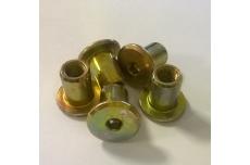 Dekoratiivmutter M 6x15x8x12 zn kollane